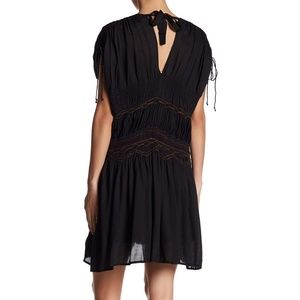 2e2b17296f5 Free People Dresses - Free People Black Smocked Embroidered Dress XS